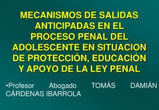 Profesor Abogado TOMÁS DAMIÁN CÁRDENAS IBARROLA