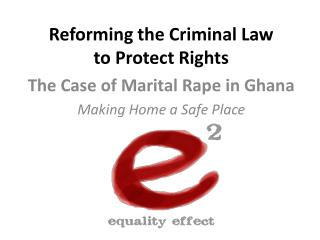 Reforming the Criminal Law to Protect Rights