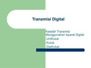 Transmisi Digital