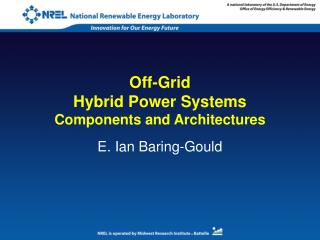 Off-Grid Hybrid Power Systems Components and Architectures
