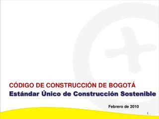 Estándar Único de Construcción Sostenible