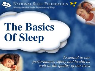 The Basics  Of Sleep