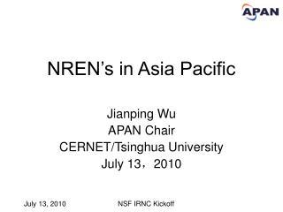 NREN's in Asia Pacific