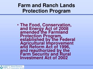 Farm and Ranch Lands Protection Program