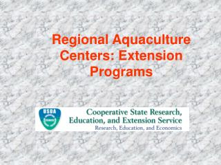 Regional Aquaculture Centers: Extension Programs