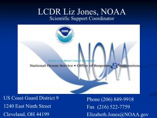 LCDR Liz Jones, NOAA Scientific Support Coordinator