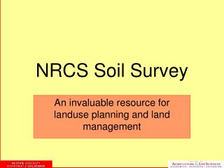 NRCS Soil Survey