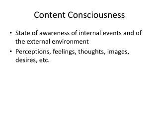 Content Consciousness