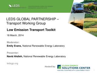 LEDS GLOBAL PARTNERSHIP � Transport Working Group