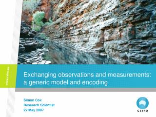 Exchanging observations and measurements:  a generic model and encoding
