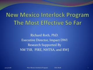 New Mexico Interlock Program The Most Effective So Far