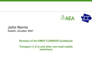 John Norris Dublin, October 2007