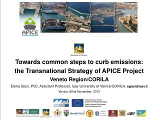 Towards common steps to curb emissions:  the Transnational Strategy of APICE Project