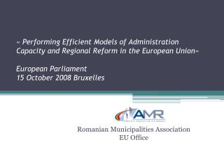 Romanian Municipalities Association  EU Office