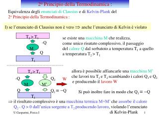 2 o  Principio della Termodinamica  :