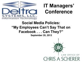 IT Managers' Conference