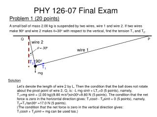 PHY 126-07  Final  Exam