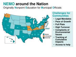NEMO  around the Nation Originally  N onpoint  E ducation for  M unicipal  O fficials
