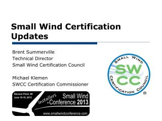 Small Wind Certification Updates