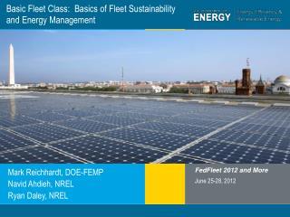 Basic Fleet Class:  Basics of Fleet Sustainability and Energy Management