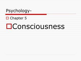 Psychology-