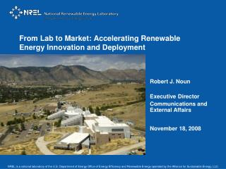 From Lab to Market: Accelerating Renewable Energy Innovation and Deployment