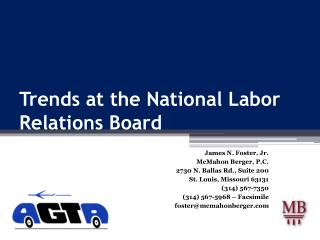 Trends at the National Labor Relations Board
