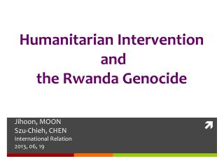 Humanitarian Intervention   and the Rwanda Genocide