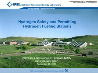 Hydrogen Safety and Permitting  Hydrogen Fueling Stations