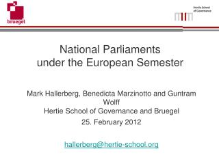 National Parliaments  under the European Semester