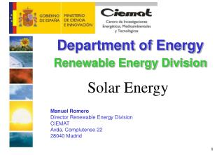 Department of Energy Renewable Energy Division
