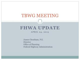 TBWG MEETING