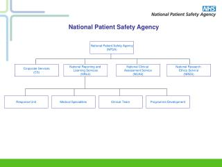 National Patient Safety Agency (NPSA)