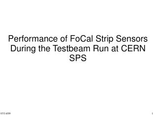 Performance of FoCal Strip Sensors During the Testbeam Run at CERN SPS