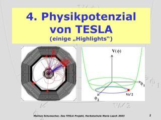 4. Physikpotenzial       von TESLA (einige �Highlights�)