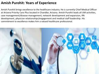 Amish Purohit: Years of Experience