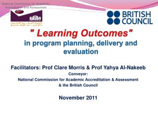 """"""" Learning Outcomes"""" in program planning, delivery and evaluation"""