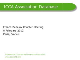 ICCA Association Database
