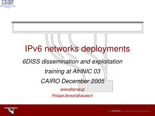 IPv6 networks deployments