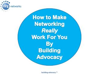 Links & Additional Resources at: nrg-networks/nrg-advocacy.html