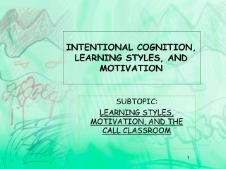 Student styles and motivation styles