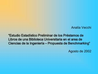 Analía Vecchi