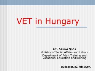 VET  in Hungary