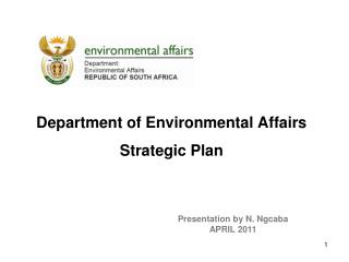 Department of Environmental Affairs  Strategic Plan