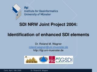development of the operational core of GDI NRW creation of content in GDI NRW GI services