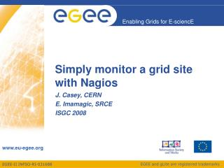 Simply monitor a grid site with Nagios