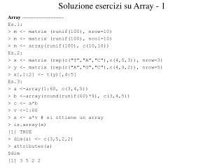 Soluzione esercizi su Array - 1