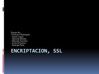 ENCRIPTACION, SSL