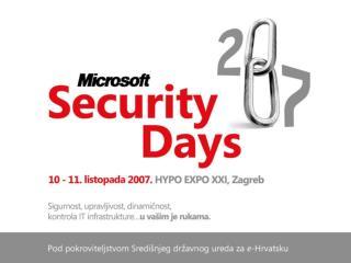 Zakon o informacijskoj sigurnosti izazov informatičkoj industriji (panel)