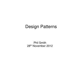 JSP Application Design